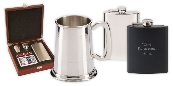 Personalised Tankards and Hipflasks