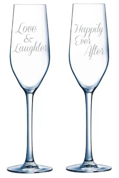 Happily Ever After Champagne Flute set