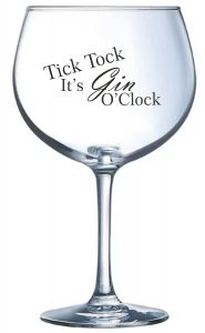 Personalised Slogan Gin Balloon Glass