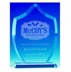 Corporate glass award