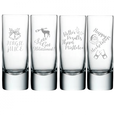 Personalised Christmas Shot Glasses
