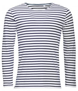 SOL'S Marine Long Sleeve Striped T-Shirt