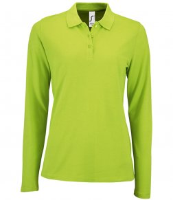 SOL'S Ladies Perfect Long Sleeve Piqué Polo Shirt
