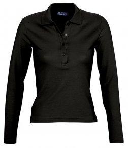 SOL'S Ladies Podium Long Sleeve Cotton Piqué Polo Shirt