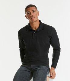 Russell Classic Long Sleeve Cotton Piqué Polo Shirt