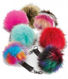 Beechfield Faux Fur Pop Pom Key Ring