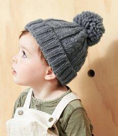 Beechfield Infant Cable Knit Melange Beanie