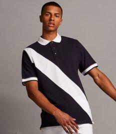Front Row Diagonal Stripe Cotton Piqué Polo Shirt