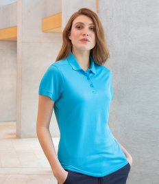 Henbury Ladies Slim Fit Stretch Microfine Piqué Polo Shirt