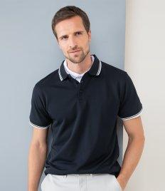 Henbury Coolplus® Tipped Polo Shirt