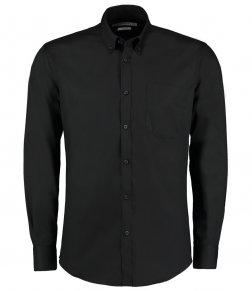 Kustom Kit Premium Long Sleeve Slim Fit Oxford Shirt