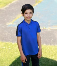 Finden and Hales Kids Contrast Panel Piqué Polo Shirt