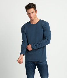 Next Level Cotton Long Sleeve Crew Neck T-Shirt