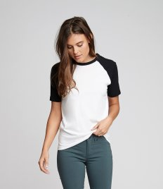 Next Level Unisex Contrast Cotton Raglan T-Shirt