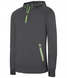 Proact Zip Neck Hooded Sweatshirt