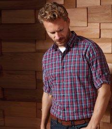 Premier Ladies Sidehill Check Long Sleeve Shirt