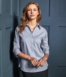 Premier Ladies 3/4 Sleeve Poplin Blouse