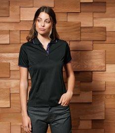 Premier Ladies Contrast Coolchecker® Piqué Polo Shirt