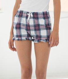 SF Ladies Tartan Frill Shorts