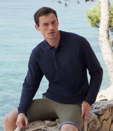 Fruit of the Loom Premium Long Sleeve Cotton Piqué Polo Shirt