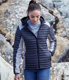 Tee Jays Ladies Crossover Hooded Padded Outdoor Jacket