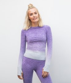 Tombo Ladies Seamless Fade Out Long Sleeve Top
