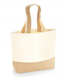 Westford Mill Jute Base Canvas Tote