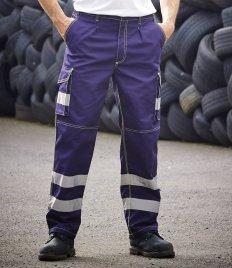 Yoko Hi-Vis Cargo Trousers with Knee Pad Pockets